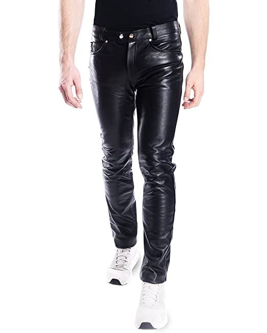 limited quantity latest discount select for newest Bockle Men Leather Trousers Leather Pants Leather Jeans with Strip Saddle  Lederhose