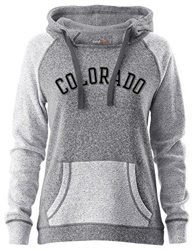 Camp David NCAA Horizon Damen Rückseite Sleeve und Pocket Kapuze, Damen, Horizon, Pepper/Charcoal, Small
