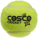 Cosco Rubber Light Weight Cricket Ball - Pack of 6 (Yellow)
