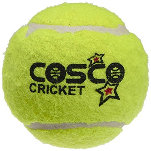 Cosco Rubber Light Weight Cricket Ball - Pack of 6 (Yellow) by ANMOL COLLECTIONS