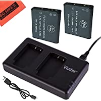 BM Premium 2 ENEL19 Batteries & Dual Battery Charger for Nikon Coolpix A300, W100, S3100, S3200, S3300, S3500, S3600, S3700, S4100, S4200, S4300, S5200, S5300, S6400, S6500, S6800, S6900, S7000 Camera