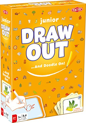 Tactic Games US Draw Out Junior Board Games (162 Piece), Orange, 7.5″ x 2.35″ x 10.35″