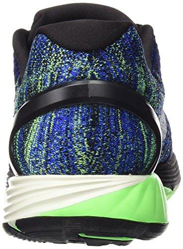 Nike Lunarglide 7 Zapatillas de running, Hombre Azul / Blanco (Black/Sail-Racer Blue-Vltg Grn)
