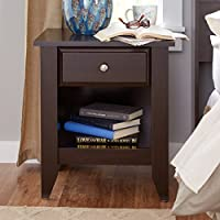 Revere 1 Drawer Nightstand (Jamocha Wood)