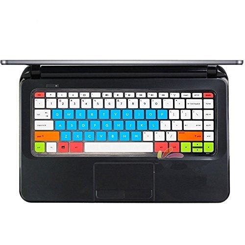 Leze Silicone Keyboard Cover Skin for HP Pavilion 14,HP ENVY Pro Ultrabook 4,HP Pavilion dv4-5000,HP Sleekbook Ultrabook ENVY 6-1000,HP Pavilion Sleekbook 14-b029tu b031tu - White Blue (Hp Pavilion Dv4 Keyboard White)