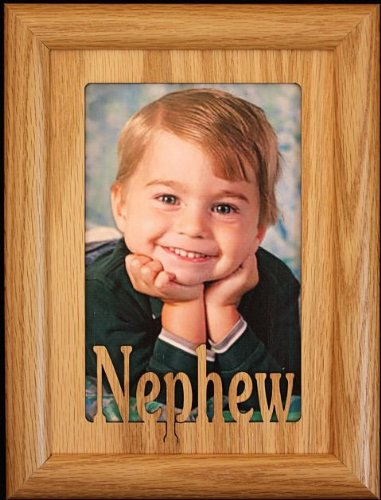 Amazon.com - 5x7 NEPHEW ~ Portrait Picture Frame ~ Holds a 4x6 or ...