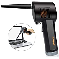 AFMAT Cordless Air Duster, Air Keyboard Cleaner, Compressed Air Can Duster, Spray Canned Air Duster for Computers, Rechargeable Blower for Keyboard Cleaning, 6000mAh, 10W Fast Charging
