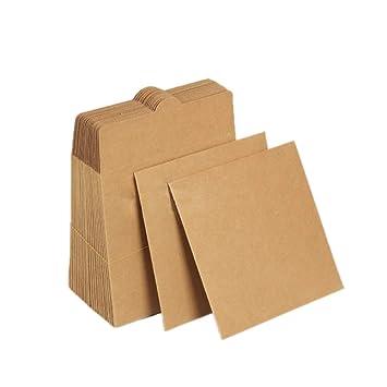 Zeato [30 unidades] fundas para CD en papel Kraft en blanco ...
