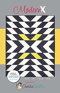 Christa Quilts Modern X Quilt Pattern 4 Sizes