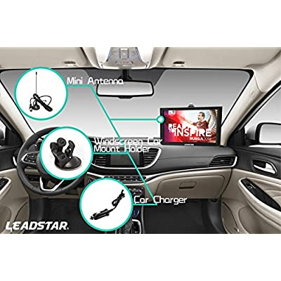 12 Inch Portable Digital ATSC TFT HD Screen Freeview LED TV for Car,Caravan,Camping,Outdoor or Kitchen.Built-in Battery Television/Monitor with Multimedia Player Support USB Card LEADSTAR: Electronics