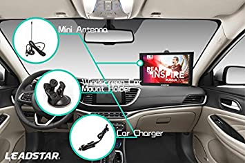 12 Inch Portable Digital ATSC TFT HD Screen Freeview LED TV for Car,Caravan,Camping,Outdoor or Kitchen.Built-in Battery Television Monitor with Multimedia Player Support USB Card LEADSTAR