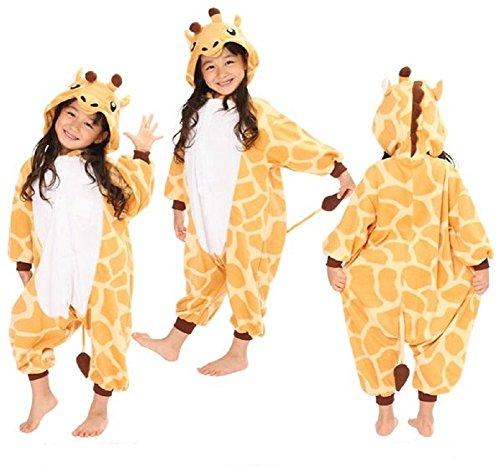Cute Japanese Animal Costumes (SSJ Kigurumi Giraffe Style Costume [ for Kids ] Pajamas Japanese Kirin (55in-59in, yellow))
