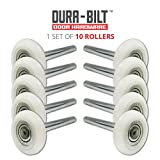 "DURA-BILT Ultra-Quiet 2"" Nylon Garage Door Roller with Precision 13-Ball Bearing and 4"" Stem (10 Pack)"