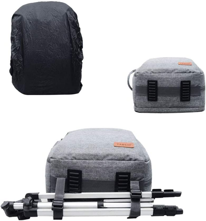 Camera Bag Camera Case Backpack with Modular Inserts /& Waterproof Rain Cover for DSLR /& Mirrorless Cameras Color : Black