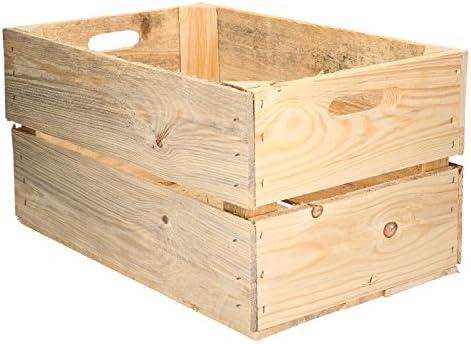 Caja de Madera diseño Fruta Cajas de Vino rústico Colonial: Amazon ...