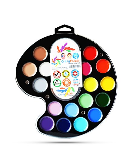 Face painting artists palette kit with 18 best colors for Best paint supplies