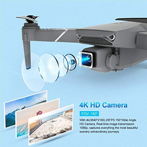 EACHINE E520S Pro GPS Drone with 4K Adjustable Camera for Adults,5G WIFI FPV Live Video Foldable Drone GPS Return home 1200Mah 16mins Flight Time Follow Me RC Drone Quadcopter for Beginners