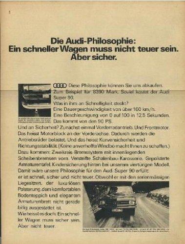 1967 AUDI SUPER 90 LIMOUSINE NON-COLOR AD