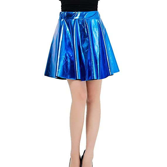 Faldas De Las Mujeres Shiny Metallic Dancewear Cintura Alta ...