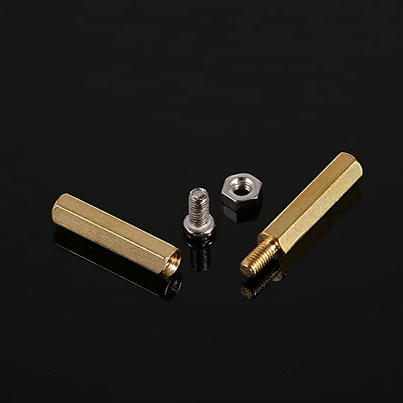 120pcs M3 Male Female Brass Hex Standoff Screw Nut Bolt PCB Motherboard Sets Assortment Kit