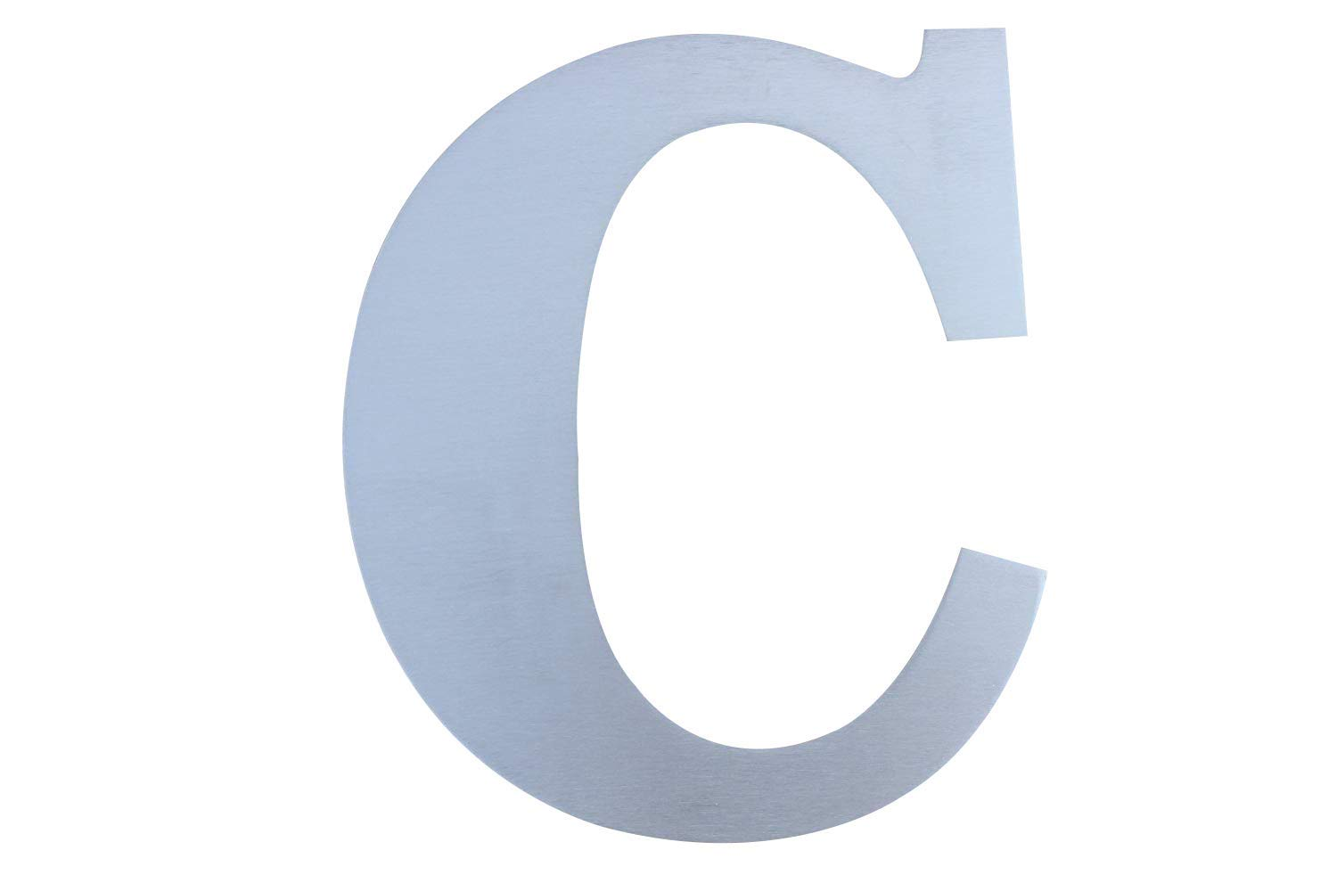 Fly Mida 10inch- House Number-304 Brushed Stainless Steel,Floating Appearance and Easy to Install (Letter-C)