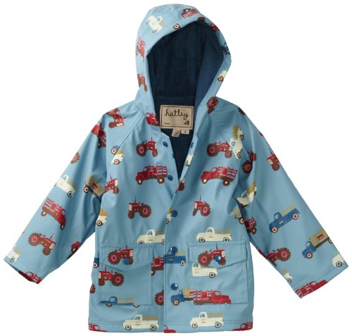 Hatley Little Boys' Children Farm Truks Rain Coat
