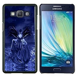 TECHCASE---Cubierta de la caja de protección para la piel dura ** Samsung Galaxy A5 ( A5000 ) 2014 Version ** --Cráneo púrpura