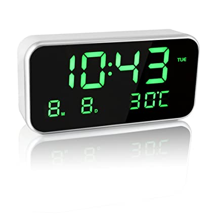 EAAGD Gran pantalla LED digital música reloj despertador ...