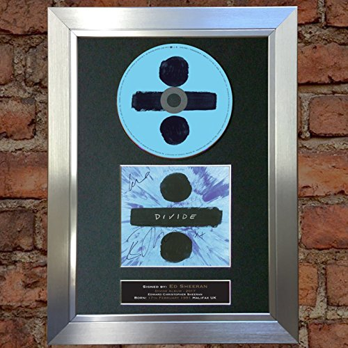 ED SHEERAN Divide ALBUM Signed Autograph CD & Cover Mounted