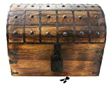 Colossus Massive 22'x17'x17' Wooden Pirate Treasure Chest Box With Antique Style Lock And Skeleton Key By WellPackBox