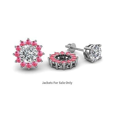 Amazon.com Rolex Jewells 0.49 cttw Round Cut Pink