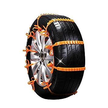 Cadena de neumático de la nieve de 10 PCS, cadenas antideslizantes portátiles Cadenas de la seguridad ...
