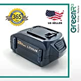 GreenR3 1-PACK 4000mAh 4.0Ah Battery for WORX WA3578 fits WG WS WA WX 20V GT AIR Drill Driver Trimmer Blower Cleaner Mower Jig Saw Chainsaw Model Series Cordless Power Tool Lithium Li-Ion Part more