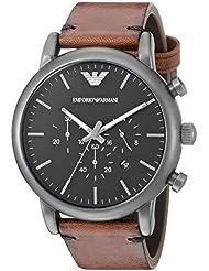 Emporio Armani Mens AR1919 Dress Brown Leather Watch