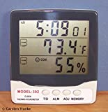 Digital Temperature Humidity Meter HY302 Hygrometer Thermometer Clock