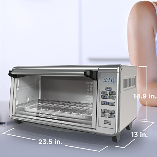 BLACK+DECKER TO3290XSD TO3290XSBD Toaster Oven, 8-Slice, Stainless Steel by BLACK+DECKER (Image #6)