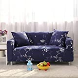 Stretch Lounge Sofa Couch Seat Cover 3 seater Slipcover Case Khaki (Blue 2)
