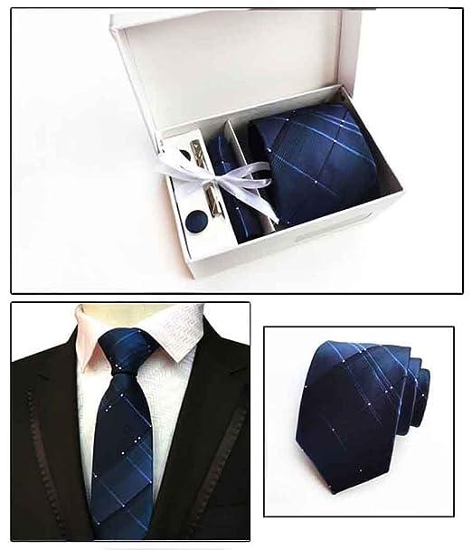 NANIH Home Juego de Corbata de Tela Escocesa Royal Suit Tie Clip ...