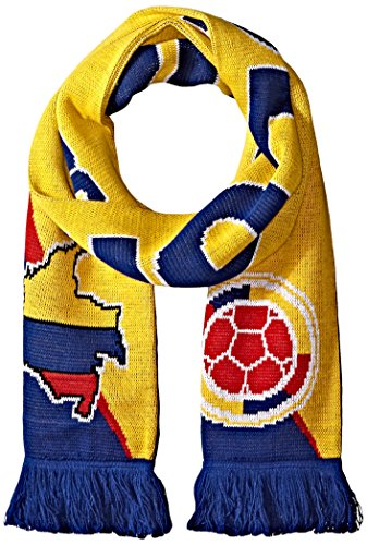 National Soccer Team Colombia Jacquard Knit Scarf, One Size, Red/Blue/Yellow