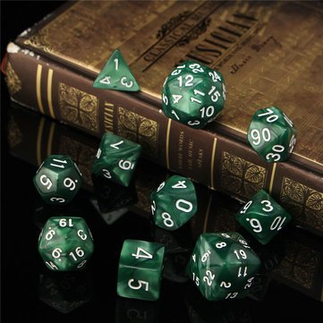 Board Game Toys - 10pc Set Trpg Games Gaming Dices D4-D30 Multi-Sided Dices 6color by Unknown