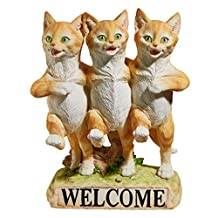 Design Toscano JQ6267 Chorus Line of Cats Garden Welcome Statue, Multi-Color