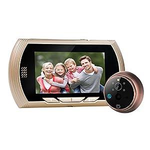 WEKSI 4.3  TFT LCD Screen Digital Peephole Door Viewer Camera PIR Motion Detection Doorbell 140 Degree Wide Angle IR Night Vision No Disturbing Functions ...  sc 1 st  Amazon.com & WEKSI 4.3