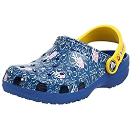 Crocs Sponge Bob Cayman Sandal (Toddler/Little Kid),Sea Blue/Yellow,4-5 M US Toddler