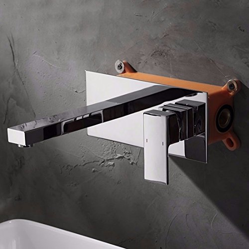 Single Hole Basin Faucet Into The Wall Dark Mounted Basin Faucet Basin Faucet Tap Water Faucet by SJQKA