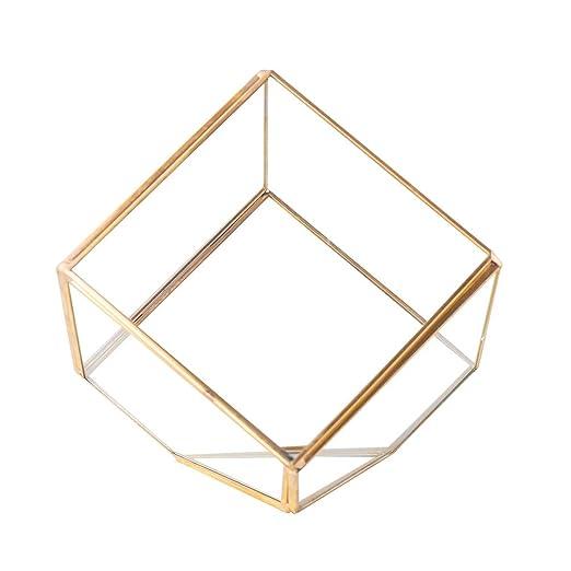 Baoyouni Maceta de Cristal geométrico Irregular para Decoración de ...