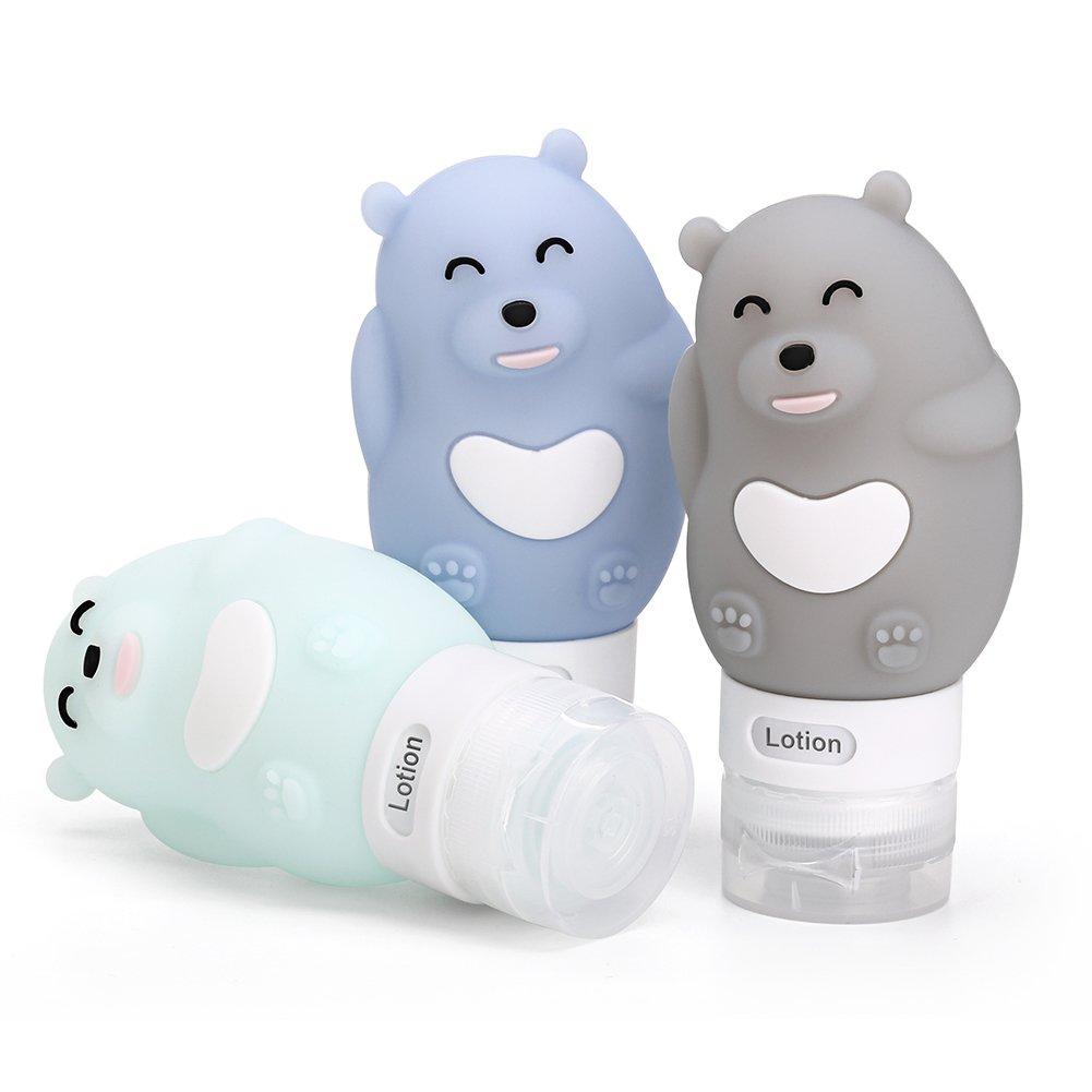Botellas de silicona Kassid Hamilton para caricaturas vacías pequeñas, para viajes al aire libre, portátil, botella para apretar, multiusos para dibujos ...