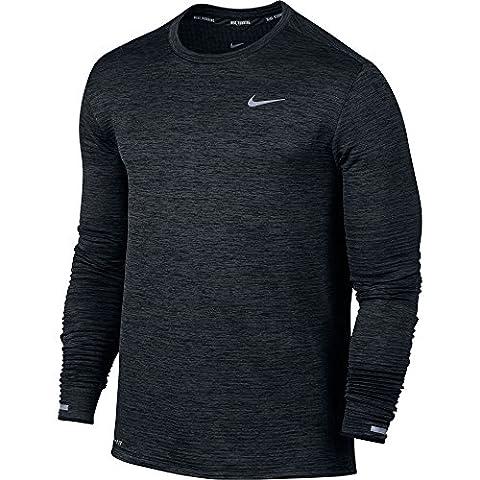 Nike Men Therma Sphere Element Running Top, Black (M) (Nike 5 0 Men Green)
