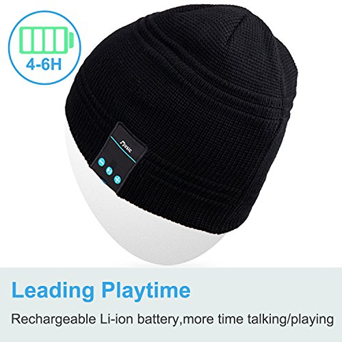 Mydeal Wireless Bluetooth Beanie Hat Music Knitted Cap with Headphone Headset Earphone Stereo Speakers and Mic Hands…