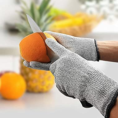 Iktu 1 Pair Cut Resistant Gloves, High Performance Level 5 Protection, Food Grade Kitchen Glove for Hand Safety while Cutting, Cooking, doing Yard Work (Free Size) 14