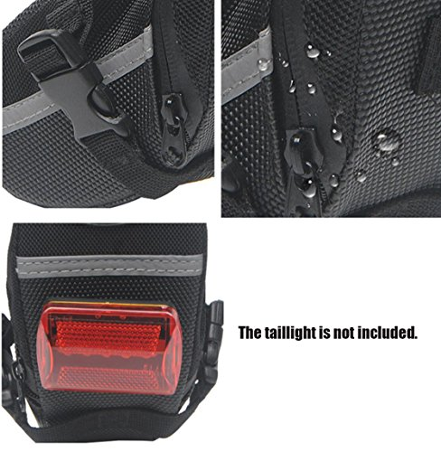 BeeChamp Bike Bicycle Strap on Saddle Bag Cycling Under Seat Tail Wedge Pack Waterproof Seatpost Tool Kit Pouch